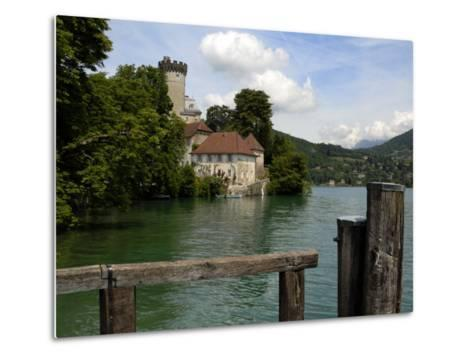 Chateau at Duingt, Lake Annecy, Annecy, Rhone Alpes, France, Europe-Richardson Peter-Metal Print