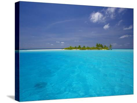 Tropical Island Surrounded by Lagoon, Maldives, Indian Ocean-Papadopoulos Sakis-Stretched Canvas Print