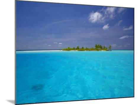 Tropical Island Surrounded by Lagoon, Maldives, Indian Ocean-Papadopoulos Sakis-Mounted Photographic Print