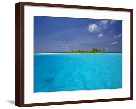 Tropical Island Surrounded by Lagoon, Maldives, Indian Ocean-Papadopoulos Sakis-Framed Art Print