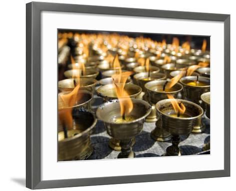 Prayer Candles, Nanwu Temple, Kangding, Sichuan, China-Porteous Rod-Framed Art Print