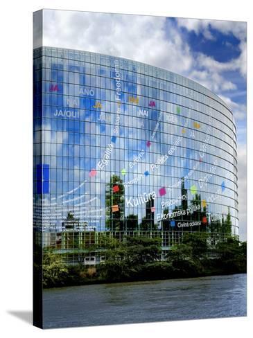 European Parliament, Strasbourg, Alsace, France, Europe-Richardson Peter-Stretched Canvas Print