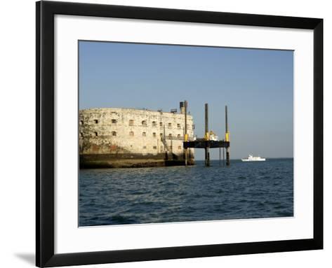 Fort Boyard, Near Ile D'Oleron, Charente Maritime, France, Europe-Groenendijk Peter-Framed Art Print