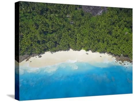 Aerial View of Anse Victorin Beach, Fregate Island, Seychelles, Indian Ocean, Africa-Papadopoulos Sakis-Stretched Canvas Print