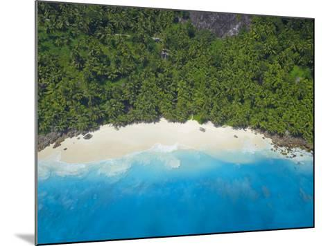 Aerial View of Anse Victorin Beach, Fregate Island, Seychelles, Indian Ocean, Africa-Papadopoulos Sakis-Mounted Photographic Print
