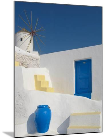 Windmill in Oia, Santorini, Cyclades, Greek Islands, Greece, Europe-Papadopoulos Sakis-Mounted Photographic Print