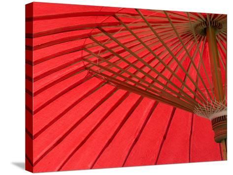 Red Umbrella, Chiang Mai, Thailand, Southeast Asia-Porteous Rod-Stretched Canvas Print