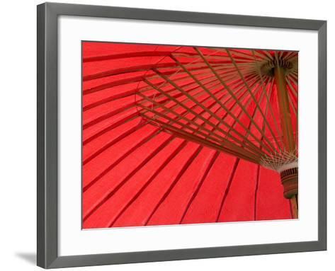 Red Umbrella, Chiang Mai, Thailand, Southeast Asia-Porteous Rod-Framed Art Print