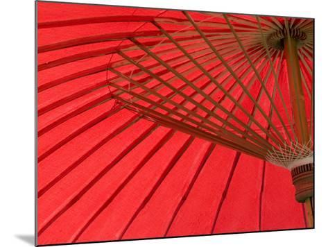 Red Umbrella, Chiang Mai, Thailand, Southeast Asia-Porteous Rod-Mounted Photographic Print