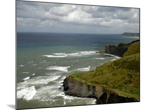 View from High, Basque Coast, Wild, Spain-Groenendijk Peter-Mounted Photographic Print