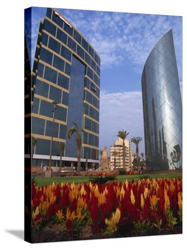 Modern Buildings Centre of Town, Lima, Peru, South America-Groenendijk Peter-Stretched Canvas Print