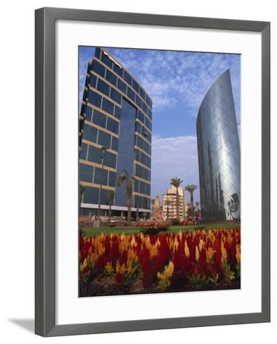 Modern Buildings Centre of Town, Lima, Peru, South America-Groenendijk Peter-Framed Art Print