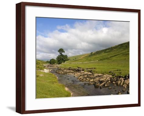 River Wharfe, Upper Wharfedale, Yorkshire Dales National Park, North Yorkshire, England, UK-White Gary-Framed Art Print