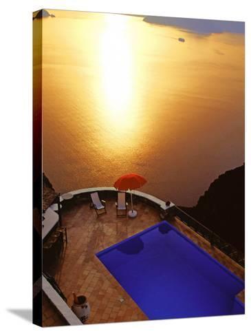 Santorini, Cyclades, Greek Islands, Greece, Europe-Papadopoulos Sakis-Stretched Canvas Print
