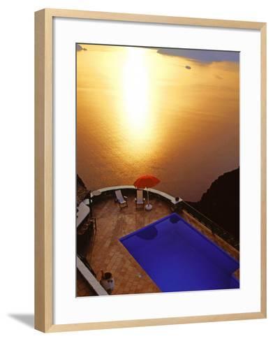 Santorini, Cyclades, Greek Islands, Greece, Europe-Papadopoulos Sakis-Framed Art Print