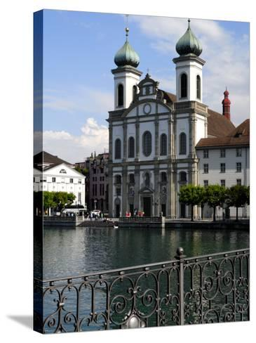 Jesuit Church, Luzern, Switzerland, Europe-Richardson Peter-Stretched Canvas Print