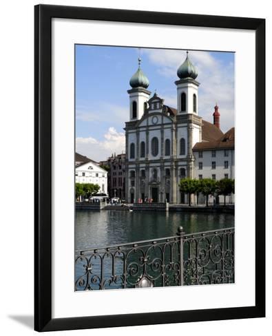 Jesuit Church, Luzern, Switzerland, Europe-Richardson Peter-Framed Art Print