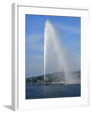 Jet D'Eau, Geneva, Switzerland, Europe-Richardson Peter-Framed Art Print