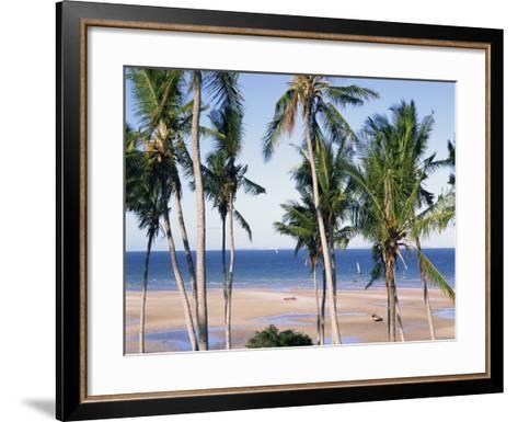 Palm Tree and Tropical Beach on the Coast of Mozambique, Africa-Groenendijk Peter-Framed Art Print
