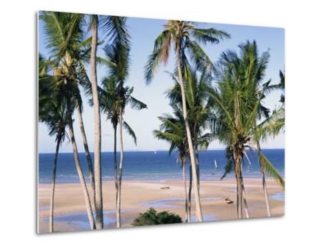 Palm Tree and Tropical Beach on the Coast of Mozambique, Africa-Groenendijk Peter-Metal Print