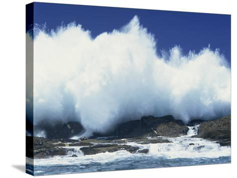 Waves Crashing on Rocks on the Coast of South Africa, Africa-Groenendijk Peter-Stretched Canvas Print