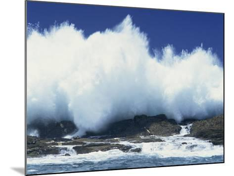 Waves Crashing on Rocks on the Coast of South Africa, Africa-Groenendijk Peter-Mounted Photographic Print