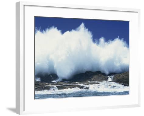 Waves Crashing on Rocks on the Coast of South Africa, Africa-Groenendijk Peter-Framed Art Print