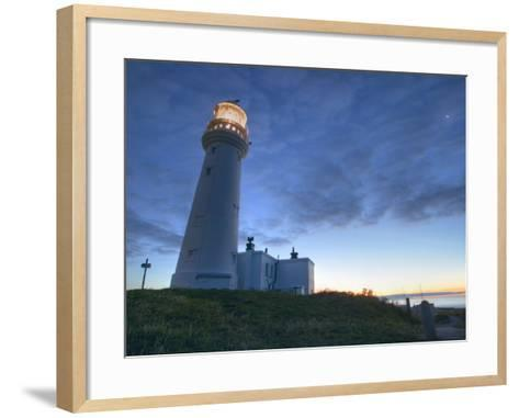 Flamborough Lighthouse, Flamborough, East Yorkshire, Yorkshire, England, United Kingdom, Europe-Wogan David-Framed Art Print