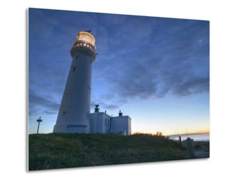 Flamborough Lighthouse, Flamborough, East Yorkshire, Yorkshire, England, United Kingdom, Europe-Wogan David-Metal Print