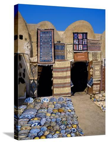 Traditional Pottery and Rug Shop, Tunisia, North Africa, Africa-Papadopoulos Sakis-Stretched Canvas Print