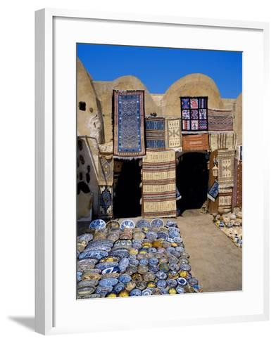 Traditional Pottery and Rug Shop, Tunisia, North Africa, Africa-Papadopoulos Sakis-Framed Art Print