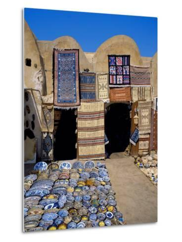 Traditional Pottery and Rug Shop, Tunisia, North Africa, Africa-Papadopoulos Sakis-Metal Print