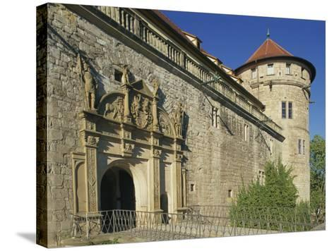 Carvings over the Entrance to Castle Hohentubingen at Tubingen in Baden Wurttemberg, Germany-Hans Peter Merten-Stretched Canvas Print