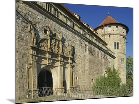 Carvings over the Entrance to Castle Hohentubingen at Tubingen in Baden Wurttemberg, Germany-Hans Peter Merten-Mounted Photographic Print