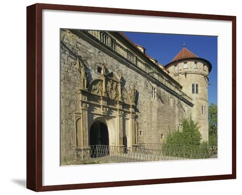 Carvings over the Entrance to Castle Hohentubingen at Tubingen in Baden Wurttemberg, Germany-Hans Peter Merten-Framed Art Print