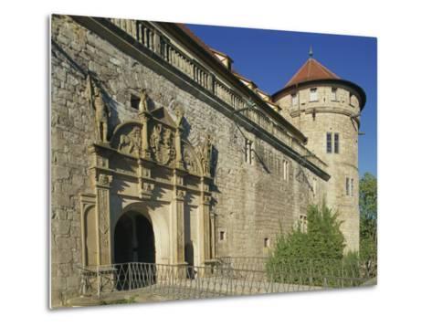 Carvings over the Entrance to Castle Hohentubingen at Tubingen in Baden Wurttemberg, Germany-Hans Peter Merten-Metal Print