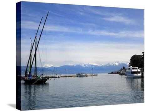 Port Des Mouettes, Lac Leman, Evian-Les Bains, Haute-Savoie, France, Europe-Richardson Peter-Stretched Canvas Print