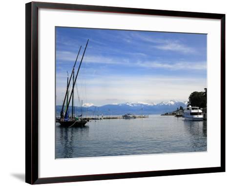 Port Des Mouettes, Lac Leman, Evian-Les Bains, Haute-Savoie, France, Europe-Richardson Peter-Framed Art Print