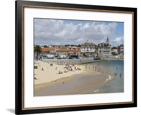 Beach and Harbour, Cascais, Portugal, Europe-Wogan David-Framed Art Print