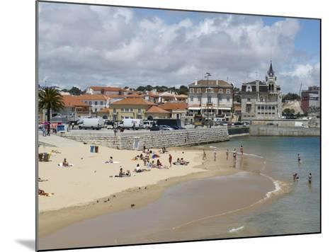 Beach and Harbour, Cascais, Portugal, Europe-Wogan David-Mounted Photographic Print