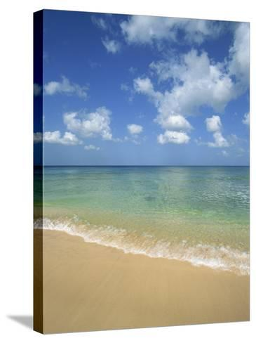 Calm Water on Beach at Paynes Bay, Barbados, West Indies, Caribbean, Central America-Hans Peter Merten-Stretched Canvas Print