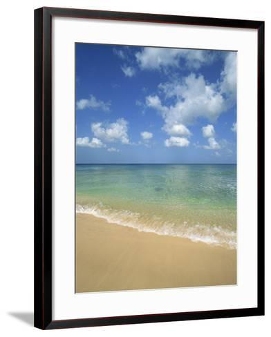 Calm Water on Beach at Paynes Bay, Barbados, West Indies, Caribbean, Central America-Hans Peter Merten-Framed Art Print