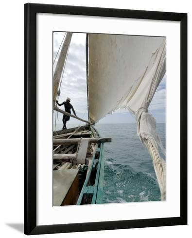 Dhow, Pangani, Near Tanga, Tanzania, East Africa, Africa-Groenendijk Peter-Framed Art Print