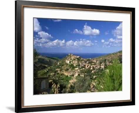 Village of Deya, Mallorca, Balearic Islands, Spain, Mediterranean, Europe--Framed Art Print