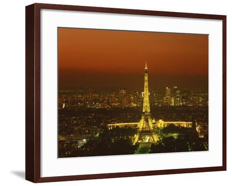 Eiffel Tower by Night, Paris, France, Europe--Framed Art Print