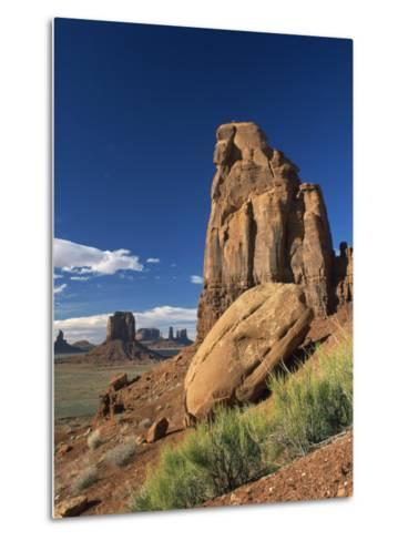 Rock Formations Caused by Erosion in a Desert Landscape in Monument Valley, Arizona, USA--Metal Print