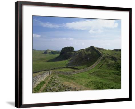 Hadrian's Wall, UNESCO World Heritage Site, Northumberland, England, United Kingdom, Europe--Framed Art Print