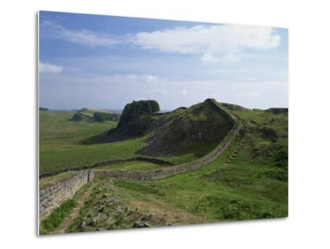Hadrian's Wall, UNESCO World Heritage Site, Northumberland, England, United Kingdom, Europe--Metal Print