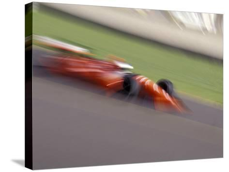 Auto Racing Action--Stretched Canvas Print