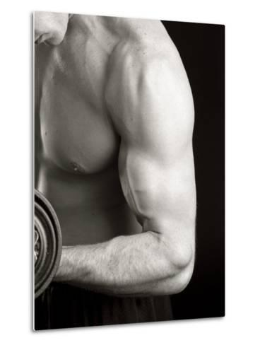 Man Working Out with Hand Wieghts, New York, New York, USA-Chris Trotman-Metal Print